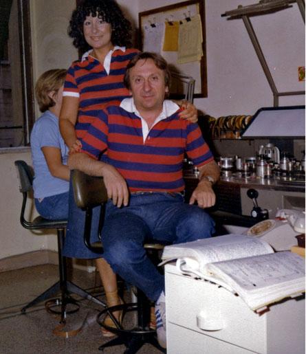 Con mia moglie, durante il montaggio del film